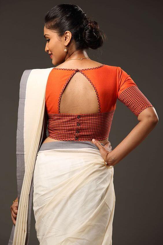 15 Stylish Saree Blouse Back Neck Designs Kurti Blouse
