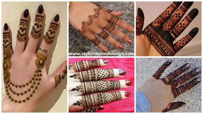 easy beautiful fingers mehndi design