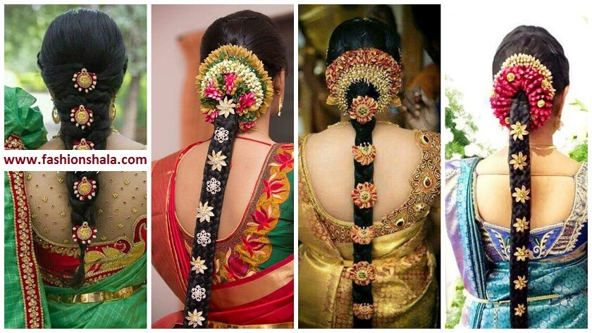 20 Best South Indian Bridal Hairstyles Perfect For Your Wedding - Kurti Blouse