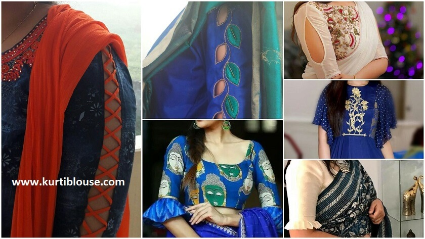 15 New sleeve designs to try with kurtis and blouse - Kurti Blouse 8feb1b7009e