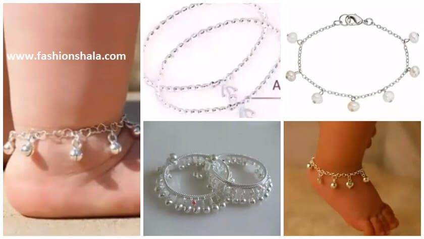Silver Anklet Designs For Babies Kurti Blouse