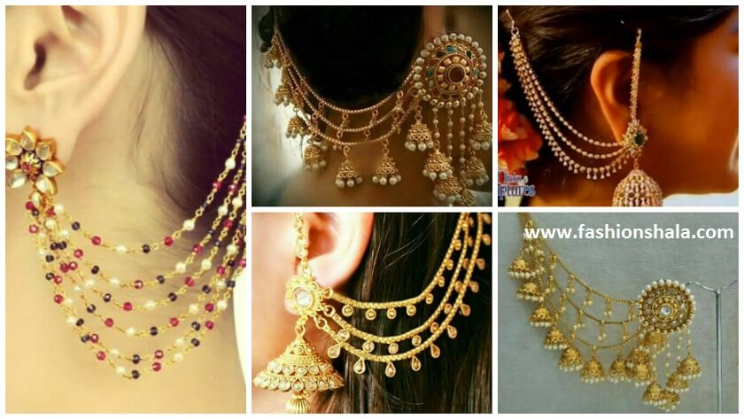 Traditional Gold Plated Designer Kaan Chain Earrings