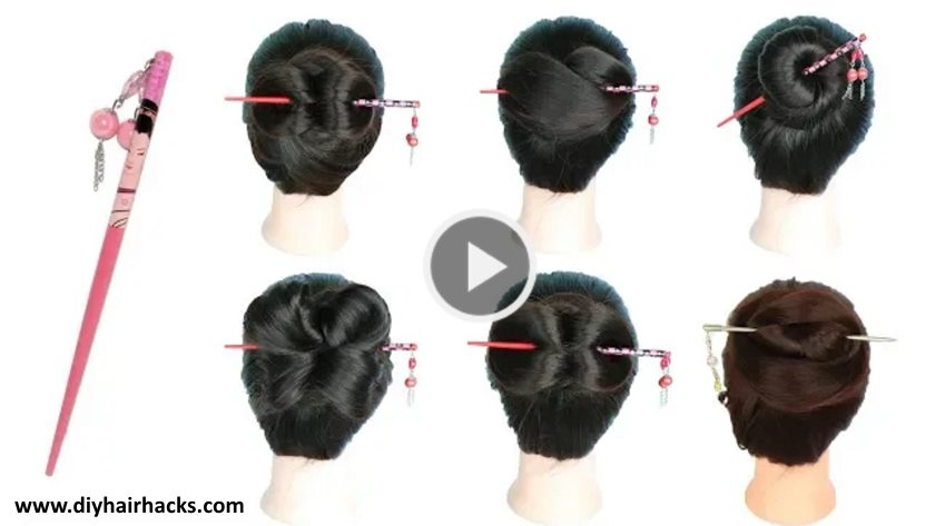 6 Easy Juda Hairstyle With Bun Stick Kurti Blouse