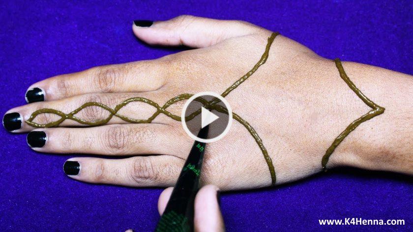 Easy Arabic Mehndi Designs For Hands Kurti Blouse