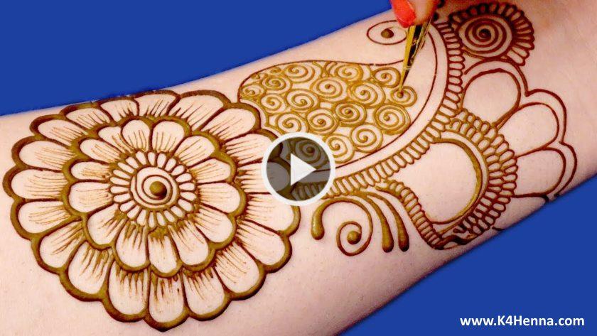 Easy Floral Henna Mehndi Design For Hands Kurti Blouse