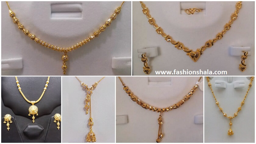 New Gold Chains Under 20 Grams Weight Kurti Blouse