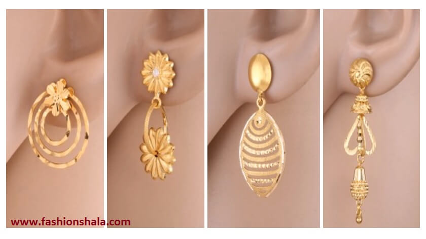 Daily Wear Earrings Design Archives Kurti Blouse