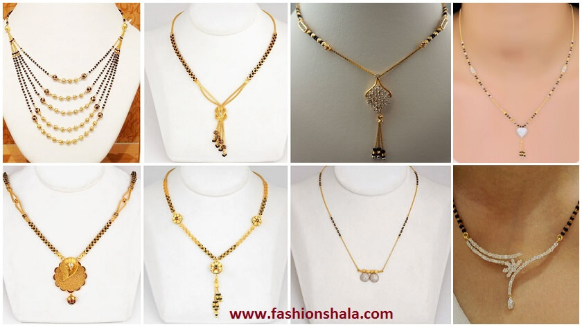 71bcdec9e16c6 Latest Light Weight Gold Mangalsutra Designs - Kurti Blouse