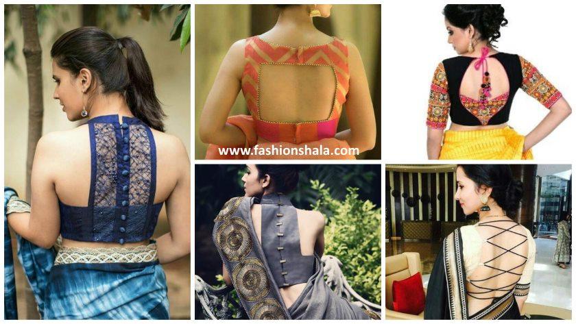 15 Latest And Stylish Saree Blouse Back Neck Designs Kurti Blouse