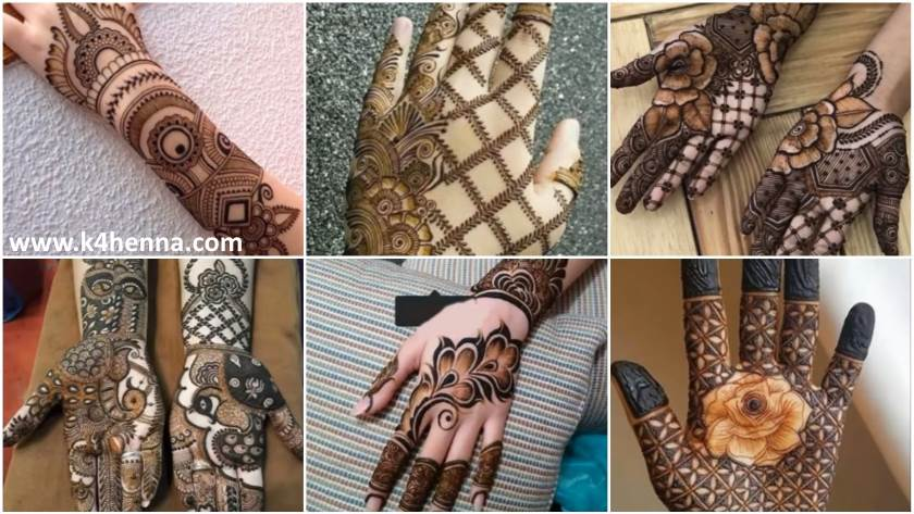 Beautiful And Stylish Henna Mehndi Designs For Hand Kurti Blouse