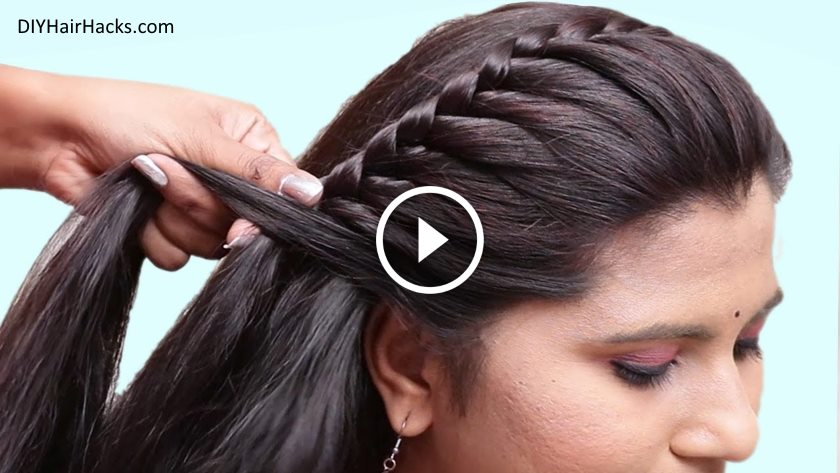 Easy Pretty Side Braid Hairstyles for Girls - Kurti Blouse