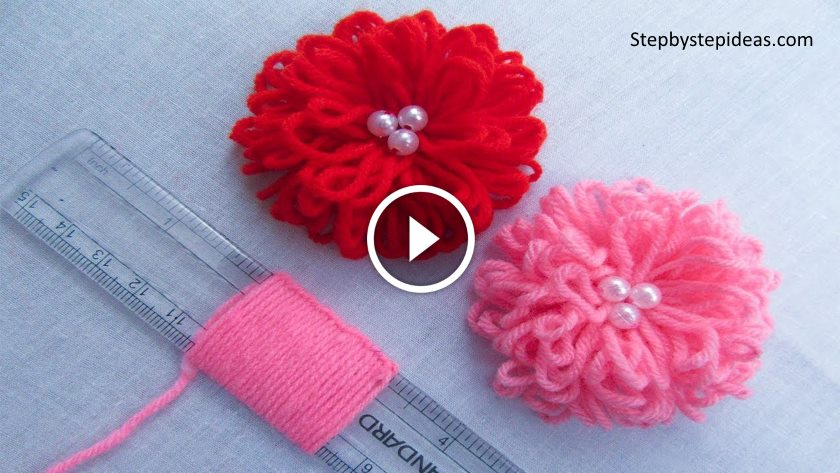 Hand Embroidery Easy Flower Trick With Scale Kurti Blouse