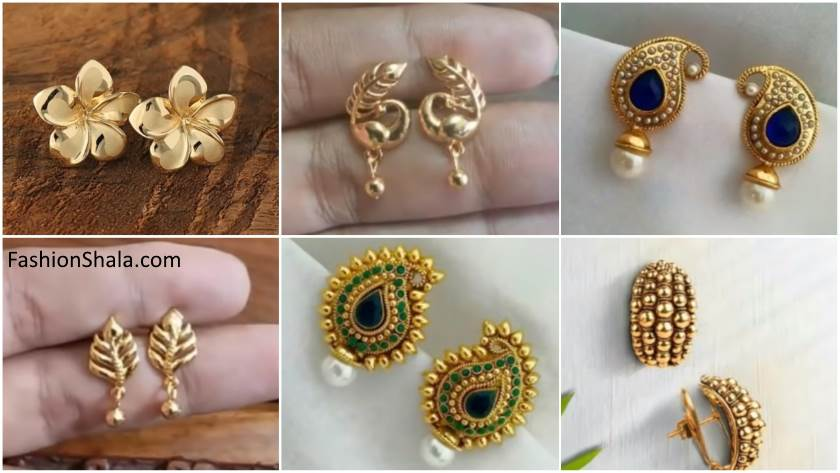 Small Gold Earrings Designs For Daily Use The Best Produck