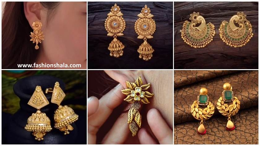 12edd130d6aa8 Gold Earrings Design For Daily Wear - Best All Earring Photos ...