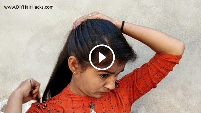 Beautiful Cute Hairstyle In 2 Min Kurti Blouse