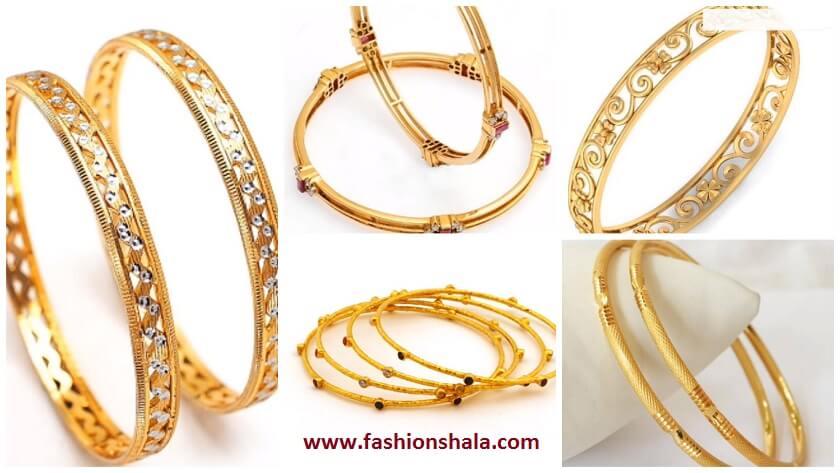 Light Weight Gold Bangles Designs Under 20 Grams Kurti