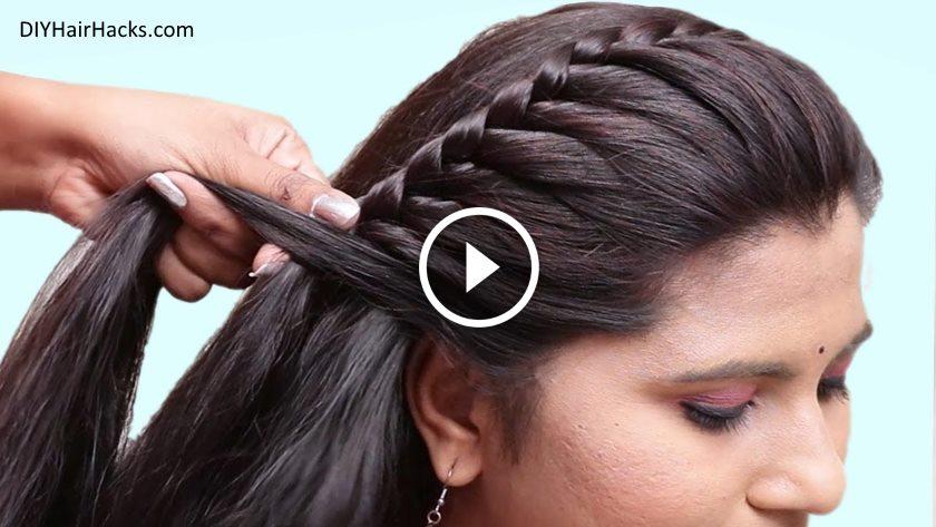 Easy Pretty Side Braid Hairstyles For Girls Kurti Blouse