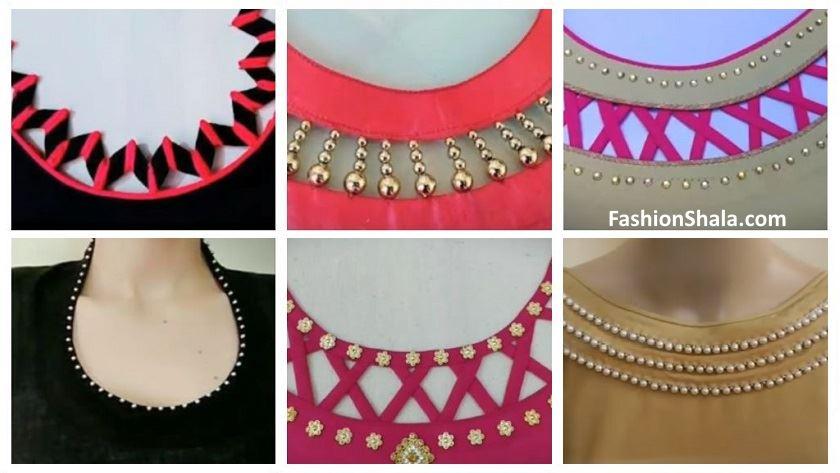 Oval Style Shape Side Design Kurta Neck Design Kurti Blouse