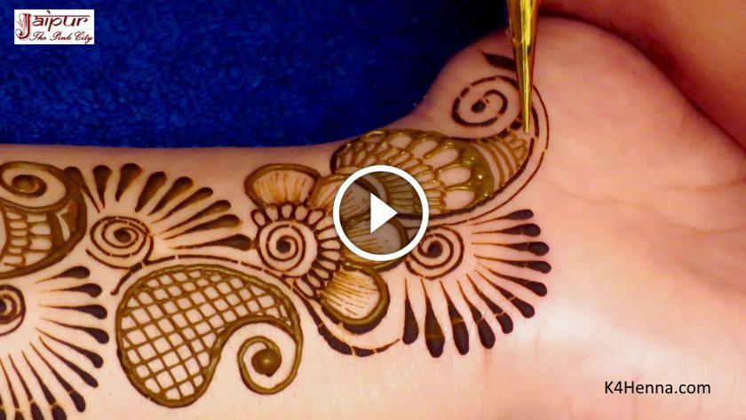 Easy Floral Mehndi Design For Beginners Kurti Blouse