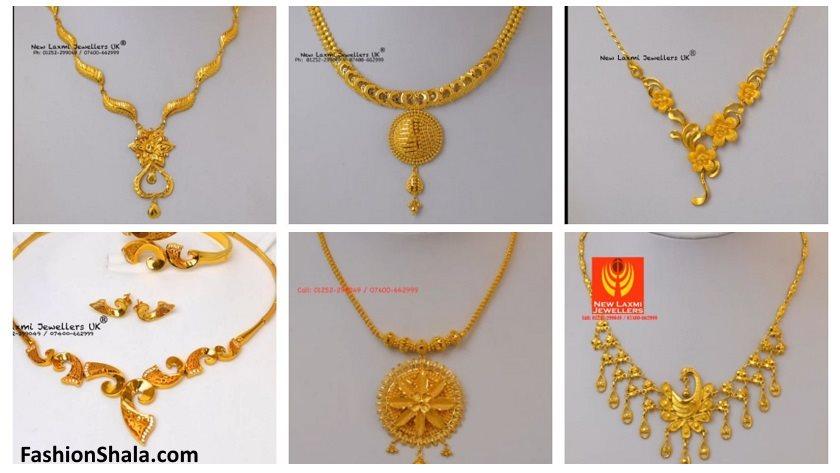 974d6b474 Light Weight Gold Necklace For Women Under 10 Grams - Kurti Blouse